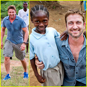 Gerard Butler Visits Liberia with Mary's Meals - All the Photos!