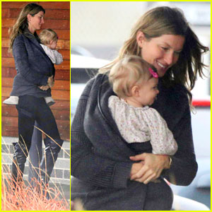 Gisele Bundchen & Baby Vivian Leave Chilly Boston Together