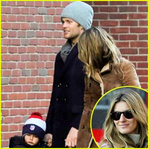 Gisele Bundchen & Tom Brady: Boston Fun with Benjamin!