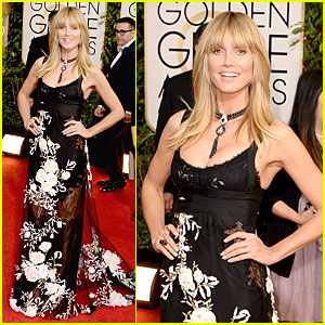 Heidi Klum - Golden Globes 2014 Red Carpet