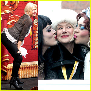 Helen Mirren Twerks & Hangs with Drag Queens, Continues to Be One of Hollywood's Coolest Ladies!