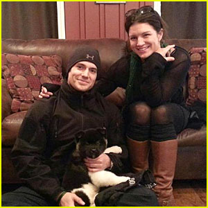 Henry Cavill & Gina Carano Add a Puppy to Their Family