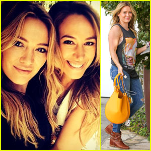 Hilary Duff Hits the Studio After Filming 'Real Girls Kitchen'