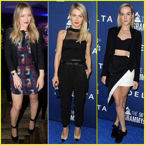 Hilary Duff & Julianne Hough: Delta Airlines Pre-Grammy Party