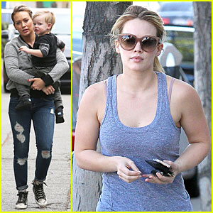 Hilary Duff: Weekend Flea Market Stop with Luca!