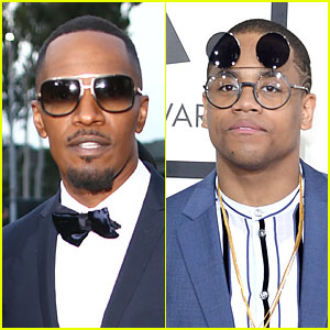Jamie Foxx & Mack Wilds - Grammys 2014 Red Carpet