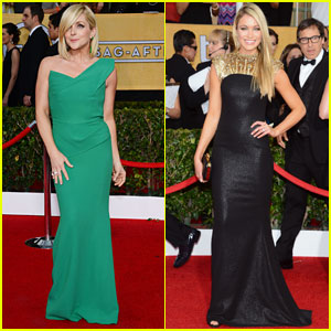 Jane Krakowski & Katrina Bowden - SAG Awards 2014 Red Carpet