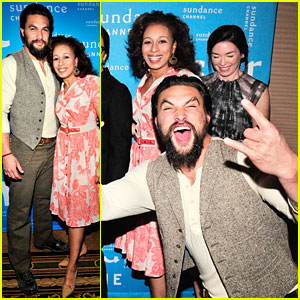 Jason Momoa Photobombs 'Red Road' Cast at TCA Panel!
