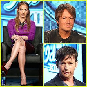 Jennifer Lopez: 'American Idol' TCA Panel with Keith Urban!