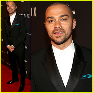 Jesse Williams - Weinstein's Golden Globes After Party 2014