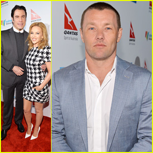 Joel Edgerton & John Travolta: Qantas Spirit Of Australia Party!