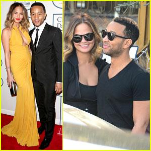 John Legend & Chrissy Teigen - Clive Davis' Pre-Grammys Gala 2014