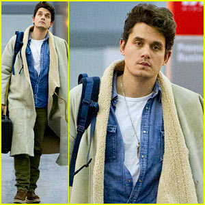 John Mayer Flies Into the Polar Vortex After Time in Sunny L.A.!