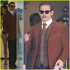 Johnny Depp: 'Mortdecai' Set with Bikini-Clad Babes!