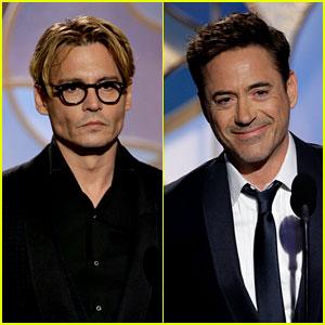 Johnny Depp & Robert Downey Jr. - Golden Globes 2014