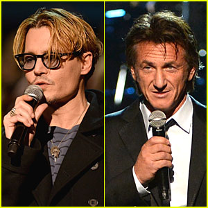 Johnny Depp & Sean Penn: Beatles Tribute Presenters!