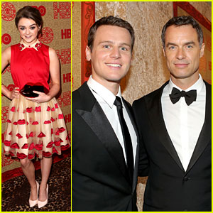 Jonathan Groff & Maisie Williams - HBO Golden Globes Party 2014