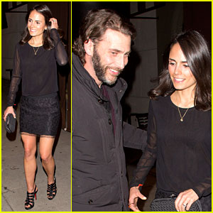 Jordana Brewster: New Year's Eve Dinner with Andrew Form!