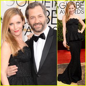 Judd Apatow & Leslie Mann - Golden Globes 2014 Red Carpet