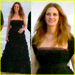 Julia Roberts Wears Elegant Gown for Beach Photo Shoot!