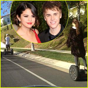 Justin Bieber & Selena Gomez Ride Segways Together (Photo)