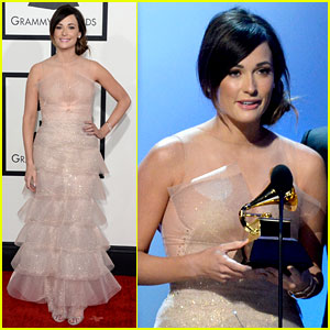 Kacey Musgraves - Grammys 2014 Red Carpet After Winning
