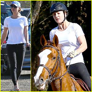 Kaley Cuoco Goes Horseback Riding After Her Wedding!
