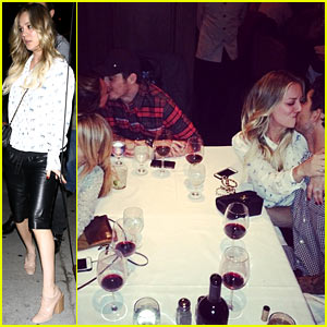 Kaley Cuoco, Haylie Duff, & Ali Fedotowsky Kiss Their Men at the Dinner Table!