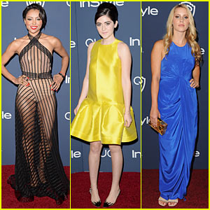 Kat Graham: Sheer Magic at InStyle Golden Globes After Party 2014 with Claire Holt!