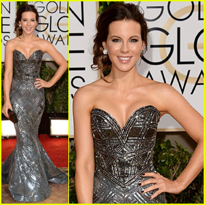 Kate Beckinsale - Golden Globes 2014 Red Carpet