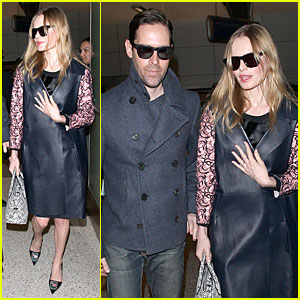 Kate Bosworth & Michael Polish: International Landing at LAX!