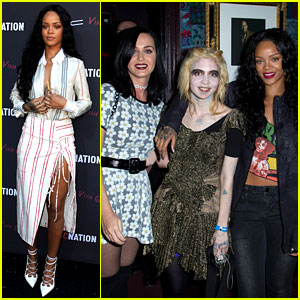 Katy Perry & Rihanna Support Grimes at Pre-Grammys Event!