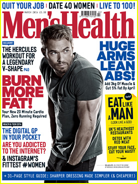 Kellan Lutz Covers 'Men's Health UK' March 2014