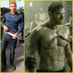 Kellan Lutz Shows Off Underwear During 'Hercules' Interview!