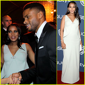 Kerry Washington & Nnamdi Asomugha - Golden Globes After Party 2014!