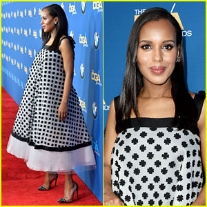 Kerry Washington's Baby Bump Fills Out Dress at DGA Awards