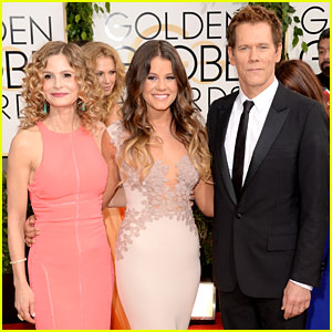Kevin Bacon & Kyra Sedgwick - Golden Globes 2014 with Daughter Sosie!
