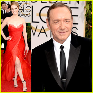 Kevin Spacey & Kristen Connolly - Golden Globes 2014