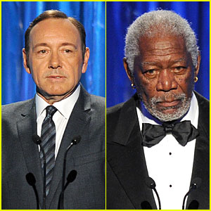 Kevin Spacey & Morgan Freeman - Producers Guild Awards 2014