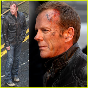 Kiefer Sutherland Sports Bloody Wound for '24: Live Another Day'