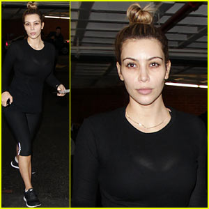 Kim Kardashian: Makeup Free for Mani & Pedi!