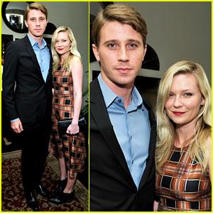 Kirsten Dunst & Garrett Hedlund: Pre-Golden Globes Party!
