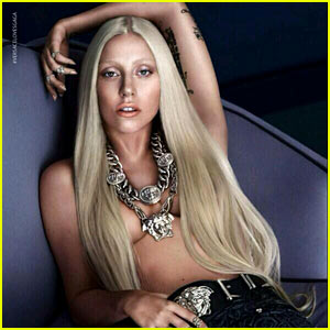 Lady Gaga: Topless Versace Ad - See the New Campaign Pic!