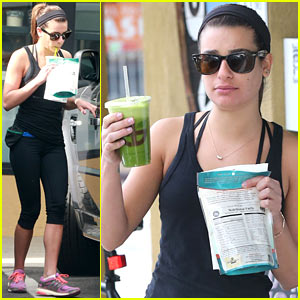 Lea Michele Grabs Healthy Juice After Weekend Workout