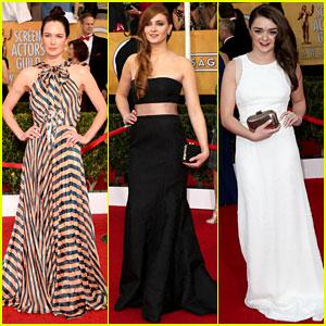 Lena Headey & Sophie Turner - SAG Awards 2014 Red Carpet