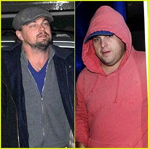 Leonardo DiCaprio & Jonah Hill Grab Dinner Together in London