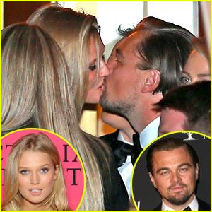 Leonardo DiCaprio Kisses Toni Garrn After Golden Globes Win!