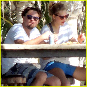 Leonardo DiCaprio Starts the New Year with Girlfriend Toni Garrn