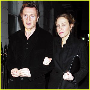 Liam Neeson & Girlfriend Freya St. Johnston Enjoy Date Night in London!