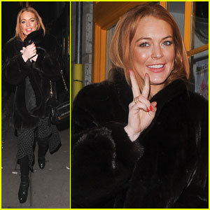 Lindsay Lohan Enjoys the Nightlife in London!